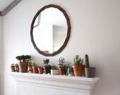 Circle Mirror - Rustic Wall Mirror - Large Wall Mirror - Octadecagon Mirror - 29 x 29 Vanity Mirror - Bathroom Mirror - Rustic Mirror