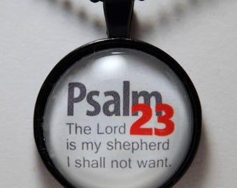 Psalm 23, 23rd Psalm, The Lord Is My Shepherd Pendant, Faith, Hope, Christian Jewelry, C L Murphy Creative, CL Murphy Creative