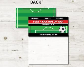 soccer valentine bag topper soccer treat bag tags soccer treat bag toppers school - Soccer Valentine Box