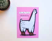 Llama Patch / Chenille Llama Patch - Illustrated