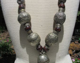 Flash Sale  Large Tribal Bead Necklace