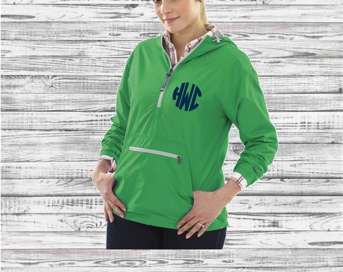 Monogrammed Chatham Rain Jacket, Charles River Pullover Rain Jacket, Bridesmaid gifts, Anorak Rain Jacket, Lined Anorak Rain Jacket