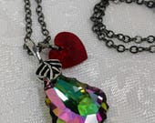 "Swarovski Crystal Heart Necklace - ""The Huntsman"""