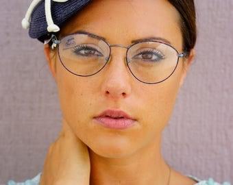 Vintage Safilo Elasta Eyeglass New Old Sotck Glasses Multi Color All Metal Frames Semi Oval Shaped Made In Italy