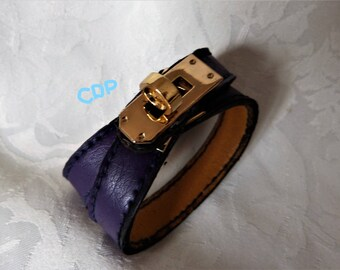 leather strap and metal