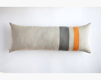 Long lumbar pillow cover for maternity pillows or for custom size giant pillows.
