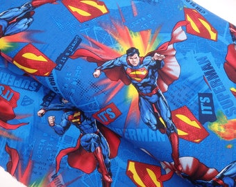 Superman Fabric, Superman Quilting Cotton, DC Comics Fabric - one quarter yard
