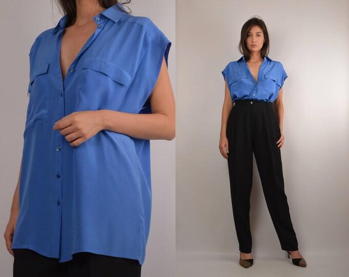 Vintage Escada Silk Overized Shirt