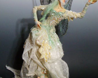"OOAK ""THE GIFT"", a One of a Kind Art Doll Fairy sculpture by Victoria Mock"