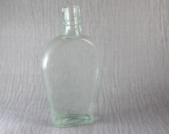 A Hodge Grimsby Vintage Glass Clear Bottle Boston England United Kingdom