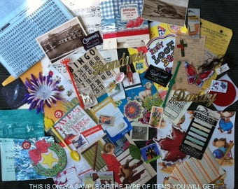 MIXED EPHEMERA LOT,60+ pieces,Vintage,Antique,Paper & other,authentic,mixed-media, scrapbooking, collage, altered art, shadow-box