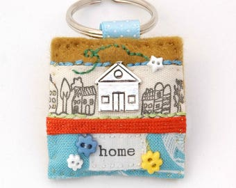 home keyring, new home gift, first home, new house, housewarming present, moving house gift, homeowner gift, homemaker gift, British made