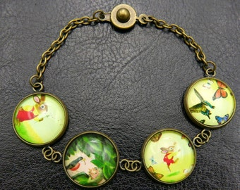 Four seasons of a small squirrel bracelet(1616B)