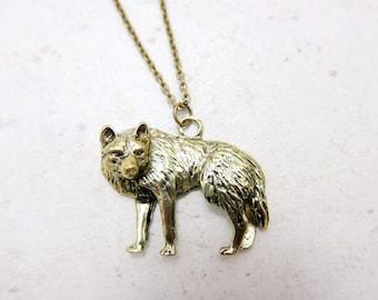 Wolf Necklace, Wolf jewelry,