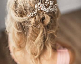 Rose Gold Hair Comb  Pearl comb Bridal comb Silver Hair Comb Ivory Pearl Hair Accessories Rose gold comb Pearl Comb Bridal Hairpiece