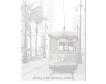 Christmas Streetcar Notepad