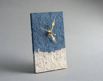 Paper Anniversary Gift for Couple, Recycled Paper Table Clock