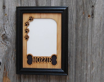 5x7 Personalized Dog Picture Frame, Dog Memorial Photo Frame, Gifts for Dog Lovers, Dog Mom Gift, Decor for Dog Lovers, Wood Picture Frame