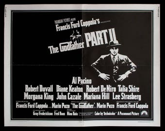THE GODFATHER Part II original 1974 movie poster Al Pacino Francis Ford Coppola