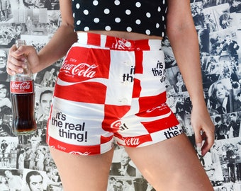 Vintage 70's Coca Cola High Waisted Shorts Sz 26W