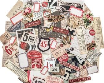SMALL DIE CUTS, Tim Holtz Snippets, Tim Holtz Ephemera, Vintage Ephemera, Ideaology Ephemera, Ephemera Pack, Vintage Die Cuts, Ideaology