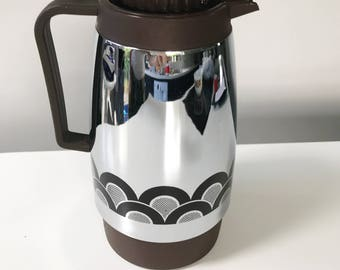 Vintage 1970s Thermos Style Vacuum Flask Coffee Pot