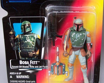 Vintage Star Wars 1995 Boba Fett (MOC) Mint on Card POTF