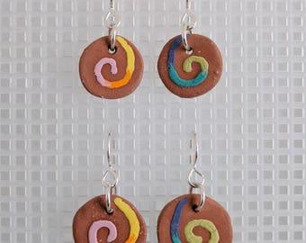 Swirl Ceramic Earrings