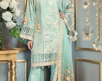 Anaya by Kiran Chaudhry, aqua dreams, salwar, pakistani clothes, festive collection