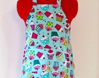 Kids Apron - Copious Cupcakes Childrens Apron - Childs Apron - Kitchen Accessory