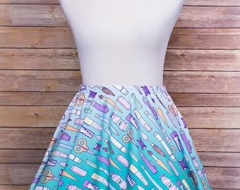 Tools of the Trade, Skater Skirt, Kawaii, Geek Clothes, Pastel Goth, Pastel Grunge, Original, Plus Size