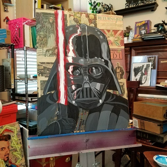 Darth Vader STAR WARS Acrylic Painting