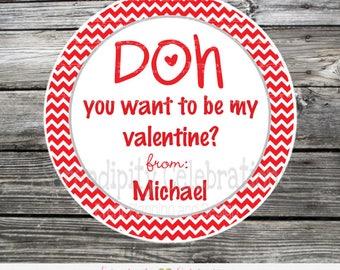 DIY Printable Play doh Valentine Tag, Printable Valentine Tags, Valentine's Day, Play doh tags, Valentine Stickers, Play Dough, Play Doh