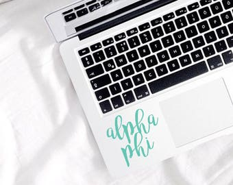 Alpha Phi Sticker - Alpha Phi Decal - Sorority Decal - Sorority Sticker - Decal - Laptop Sticker - Sorority - Greek Sticker - Sticker