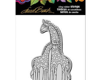 Stampendous!  Cling Rubber Stamp Laurel Burch Giraffes Mom and Baby Giraffe