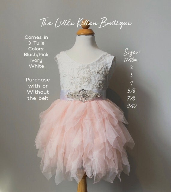 Pink Flower Girl Dress, Ivory Flower Girl Dress, Flower Girl Dress, Rustic Lace Flower Girl Dress, Wedding Dress, Beach Wedding Dress, Tulle