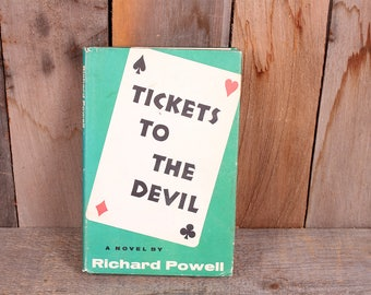 1968 Tickets to the Devil Richard Powell Poker Bridge Card Playing Book