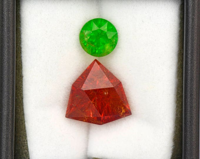 Beautiful Grossular and Spessartine Garnet Gemstone Set 9.25 tcw.