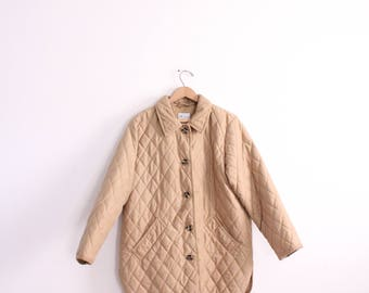 Quilted Tan 90s Barn Jacket