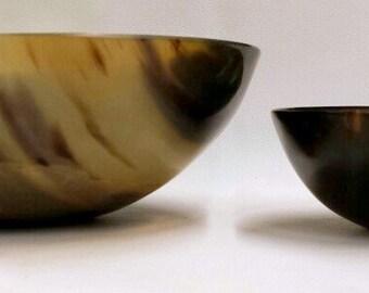 Buffalo Horn Carved Bowl