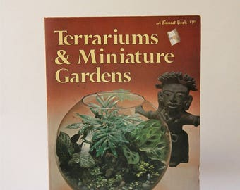 Vintage Book Terrariums and Miniature Gardens Succulent Cactus Plants DIY Instructional Book