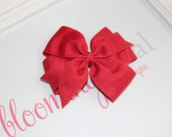 "Red Large 4"" Pinwheel Bow"