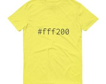 Yellow #fff200 Mens Short-Sleeve T-Shirt Graphic Design Code Shirt