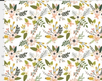 Baby Bedding Crib Bedding - Watercolor Flowers, Peach, Floral, Girl - Baby Blanket, Crib Sheet, Changing Pad Cover, Boppy Cover, Crib Skirt