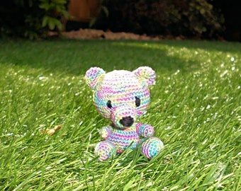 Sale Little Teddy Bear, Miniature Crochet Bear, Amigurumi Bear, Coloured , Handmade Bear, Stuffed Bear,  Stuffed animal, Small Bear, Teddy