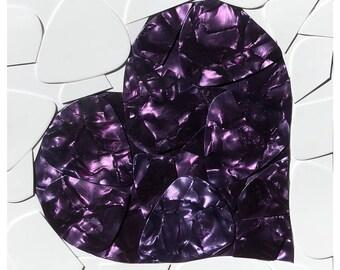 Purple Heart Guitar Picks on Canvas
