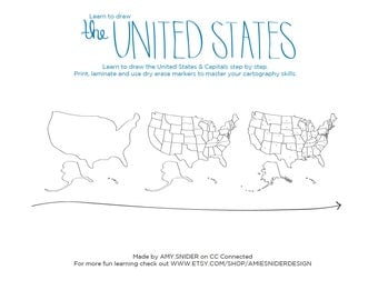 Learn to draw the UNITED STATES blob map style