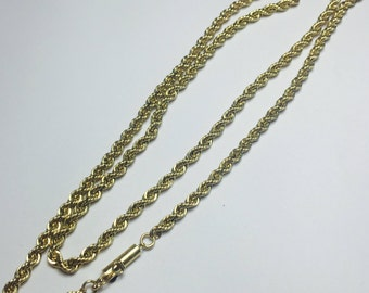 Elegant Gold Chain Necklace l 14KT Yellow Chain Necklace