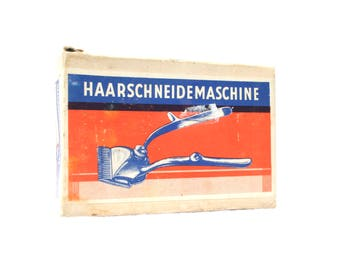Vintage Hair Clippers German In Original Box Gifts Barber Shop Decor