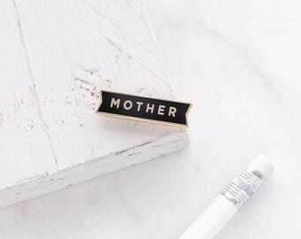 SALE: Mother Enamel Pin - Gold Enamel Pin - Mum Enamel Pin - Mom Enamel Pin - Gift for mum - Gift for mom - gift for her - mum pin